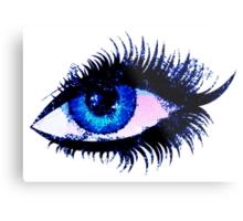 Digital watercolor female eye Metal Print