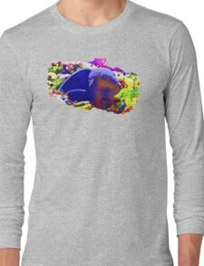 Wild Fishy Story By A Blue Fish Long Sleeve T-Shirt