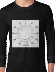 Circle of Fifths (now includes clock!) Long Sleeve T-Shirt