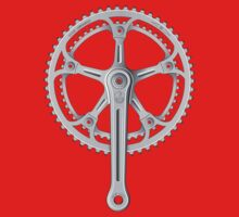 Campagnolo Super Record Strada Chainset, 1974 One Piece - Long Sleeve
