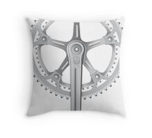 Campagnolo Super Record Strada Chainset, 1974 Throw Pillow