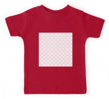 cute worm pattern,modern,trendy,contemporary pattern,peach,white Kids Tee
