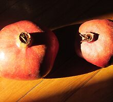 POMEGRANATES  FRUITS AUTUMN PER 2 by Guendalyn