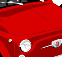 Classic Fiat 500 red Sticker