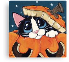 Peekaboo Pumpkin Canvas Print