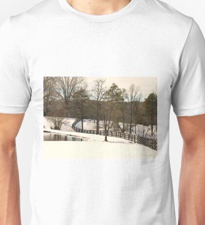 Snowy Hillside Unisex T-Shirt