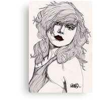 Debbie with Red Lips Canvas Print