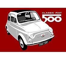 Classic Fiat 500 white Photographic Print