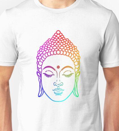 Buddha head in rainbow  Unisex T-Shirt