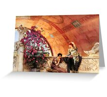 Unconscious Rivals By Sir Lawrence Alma-Tadema Greeting Card
