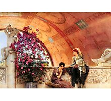 Unconscious Rivals By Sir Lawrence Alma-Tadema Photographic Print