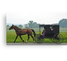 Amish Saturday Night Canvas Print
