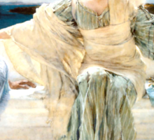 Ask me no more by Sir Lawrence Alma-Tadema Sticker