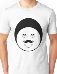 Black and white funny faces doodles Unisex T-Shirt