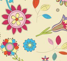 Spring Colorful Flower Pattern  Sticker