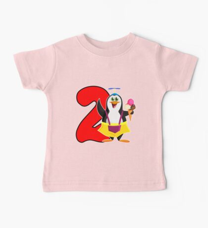 2nd Birthday Penguin Baby Tee