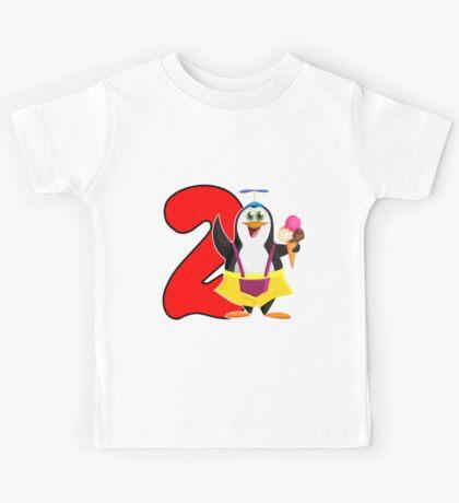 2nd Birthday Penguin Kids Tee