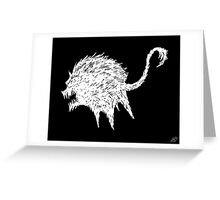 The Fury (White on Black) Greeting Card