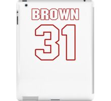 NFL Player Omar Brown thirtyone 31 iPad Case/Skin