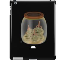 Glitch furniture tabledeco jar of firebog plant iPad Case/Skin