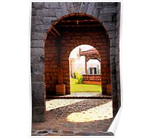 view through the arches Poster