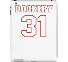NFL Player James Dockery thirtyone 31 iPad Case/Skin