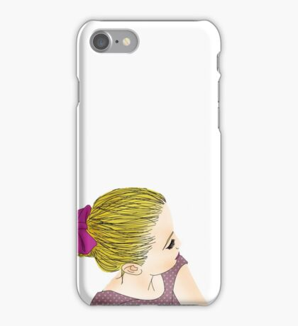 BLOND GIRL iPhone Case/Skin