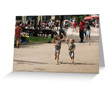 High Five With Bubbles In Their Eyes Greeting Card