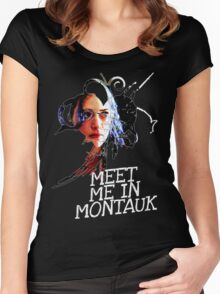 Meet Me In Montauk T-Shirt Women's Fitted Scoop T-Shirt