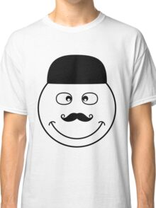 Black and white funny smiley faces doodles Classic T-Shirt