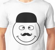 Black and white funny smiley faces doodles Unisex T-Shirt