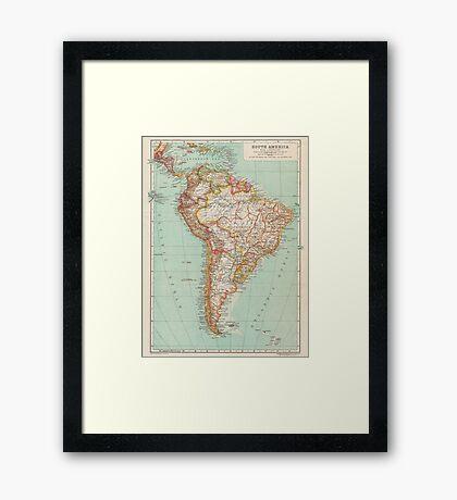 South America Antique Maps Framed Print