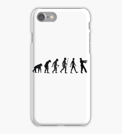Zombie evolution iPhone Case/Skin