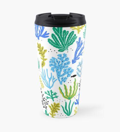 Marine life, seaweed illustration Travel Mug