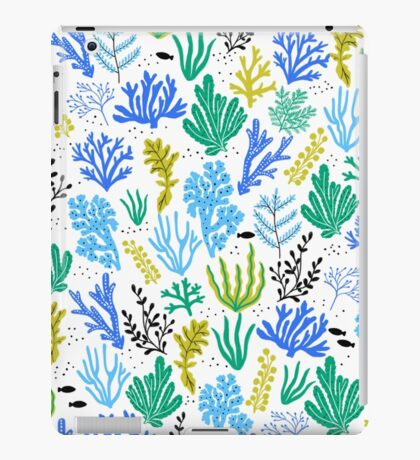 Marine life, seaweed illustration iPad Case/Skin