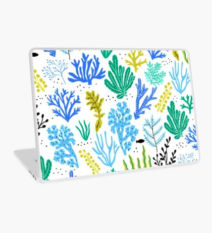 Marine life, seaweed illustration Laptop Skin