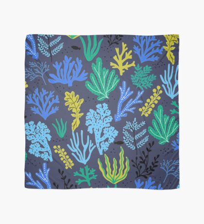 Marine life, seaweed illustration Scarf
