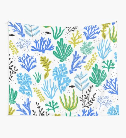 Marine life, seaweed illustration Wall Tapestry