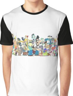 Character Line-Up Graphic T-Shirt
