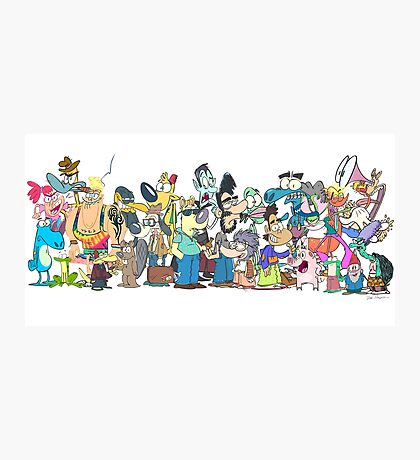 Character Line-Up Photographic Print