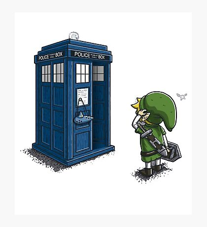 The Legend of Zelda & Doctor Who - Link (Tardis) Photographic Print