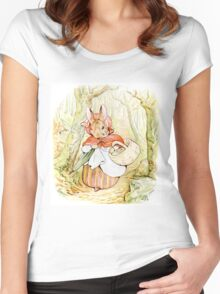Beatrix Potter, Bunny Women's Fitted Scoop T-Shirt