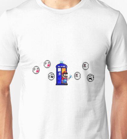 Mario & Doctor Who - Mario (Tardis) Unisex T-Shirt