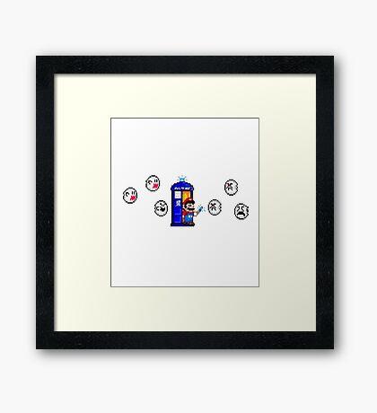 Mario & Doctor Who - Mario (Tardis) Framed Print