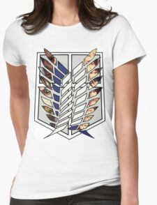 Attack On Titan Survey Corps Womens Fitted T-Shirt