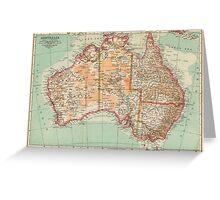 Australia Antique Maps Greeting Card