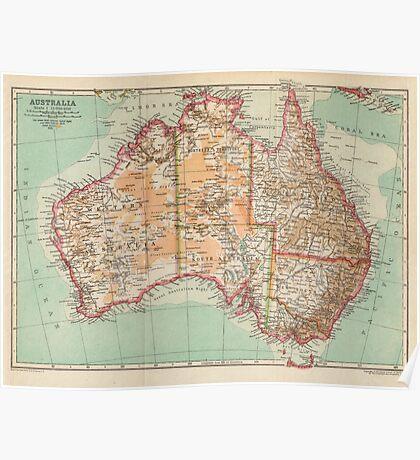 Australia Antique Maps Poster