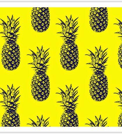yellow pineapple pattern Sticker