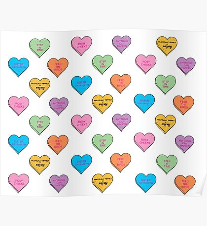 Practically Perfect Conversation Hearts Poster