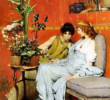 Confidences 1869 by Sir Lawrence Alma-Tadema by Old-Time-Images